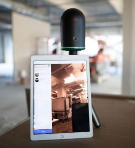 Leica BLK360 seen here with an iPad